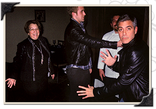 George Clooney Having fun with Fran and Randy